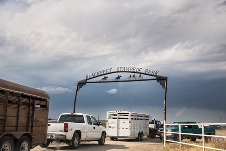 Each summer, the Blackfeet Stampede Park hosts the Blackfeet Youth Rodeo on Tuesday evenings.